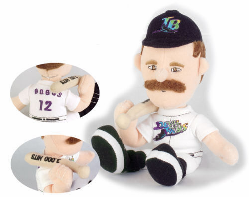Wade Boggs 3000 Hits Limited Edition Tampa Bay Devil Rays Lookalike Plush Collectible<br>ONLY 2 LEFT!