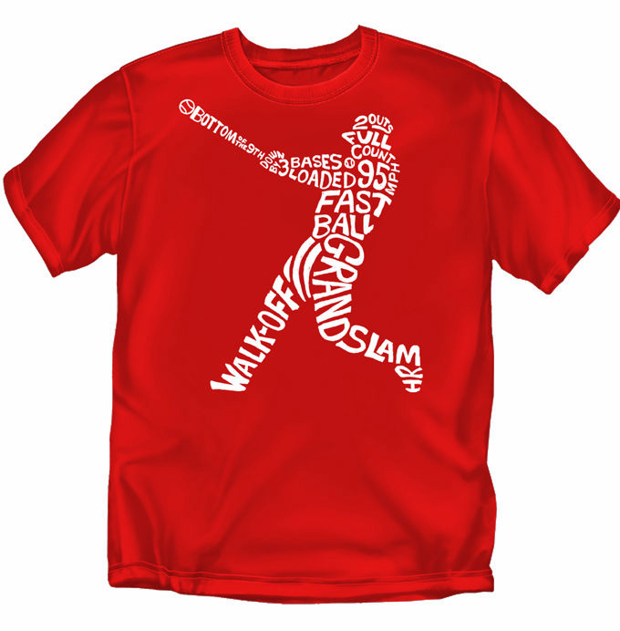 Walk Off Grand Slam Baseball Batter T-Shirt<br>Choose Your Colors<br>Youth Med to Adult 4X