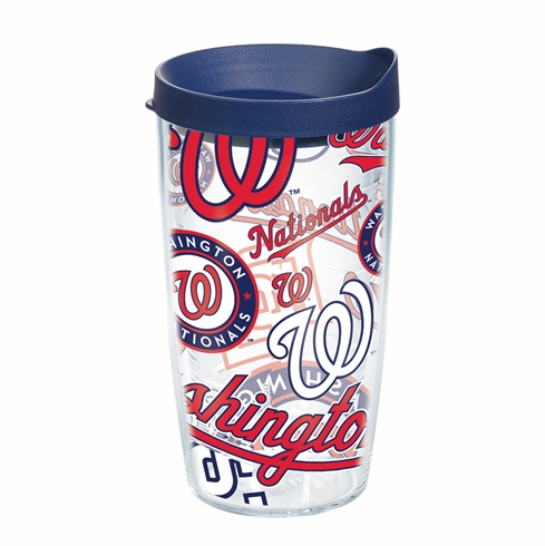 Washington Nationals All Over Wrap Set of Cups with Lids by Tervis
