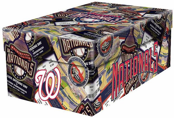 Washington Nationals Souvenir Ticket Photo Box<br>ONLY 6 LEFT!