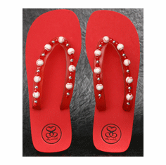 Red Baseball Flip-Flop Sandals<br>Youth Sizes or Women's Size 5