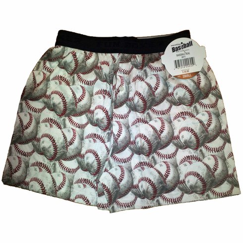 White Baseball Boxer Shorts<br>YOUTH AND ADULT