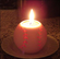 White Baseball Candle