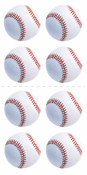 White Baseball Stickers<br>ONLY 2 LEFT!
