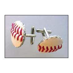 White Baseball Stitches Cufflinks