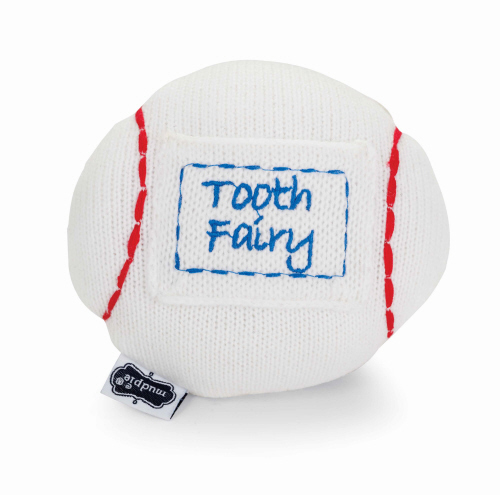White Baseball Tooth Fairy Pillow