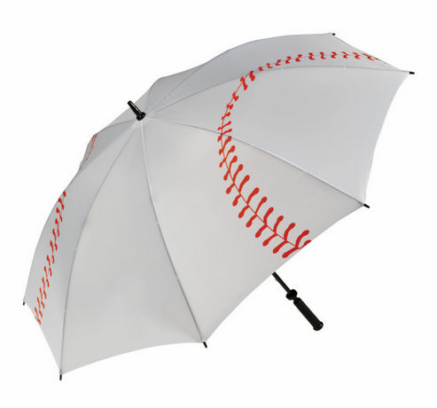 White Baseball Umbrella<br>IN STOCK NOW!