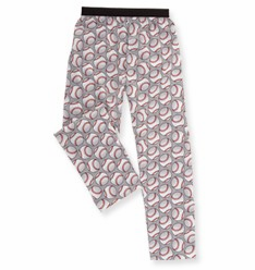 White Baseballs Lounge Pants<br>YOUTH S AND ADULT 2X