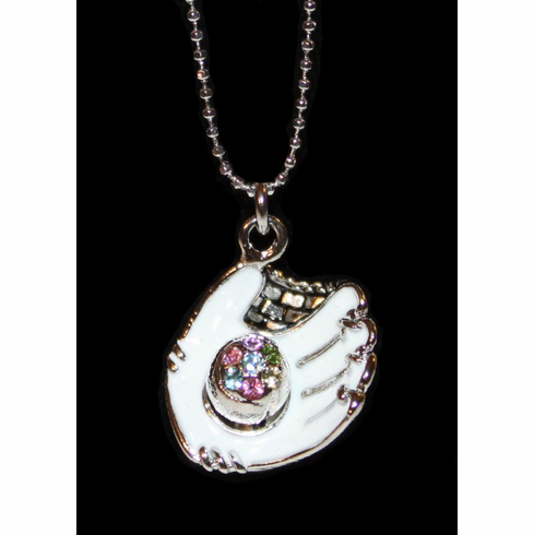 "White Glove Crystal Baseball 17"" Necklace<br>ONLY 3 LEFT!"