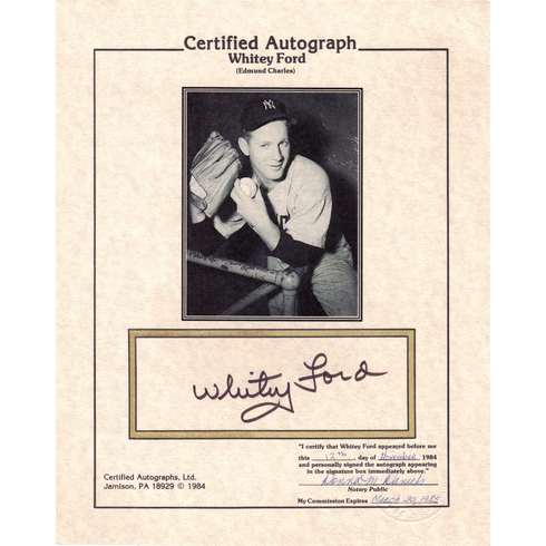Whitey Ford Certified Autograph #4
