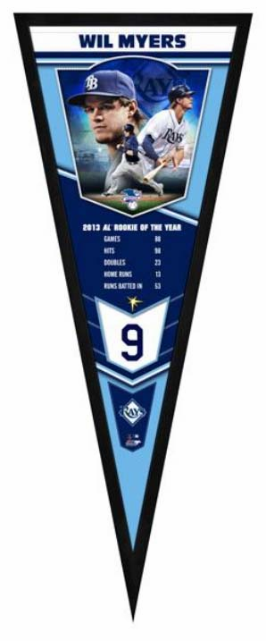 Wil Myers Tampa Bay Rays Framed Pennant Sign