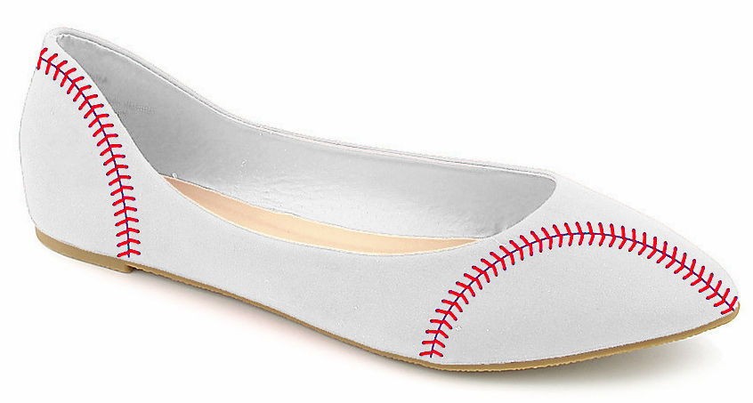 Women's Baseball Size 6.5 Ballet Flats<br>ONLY 1 PAIR LEFT!