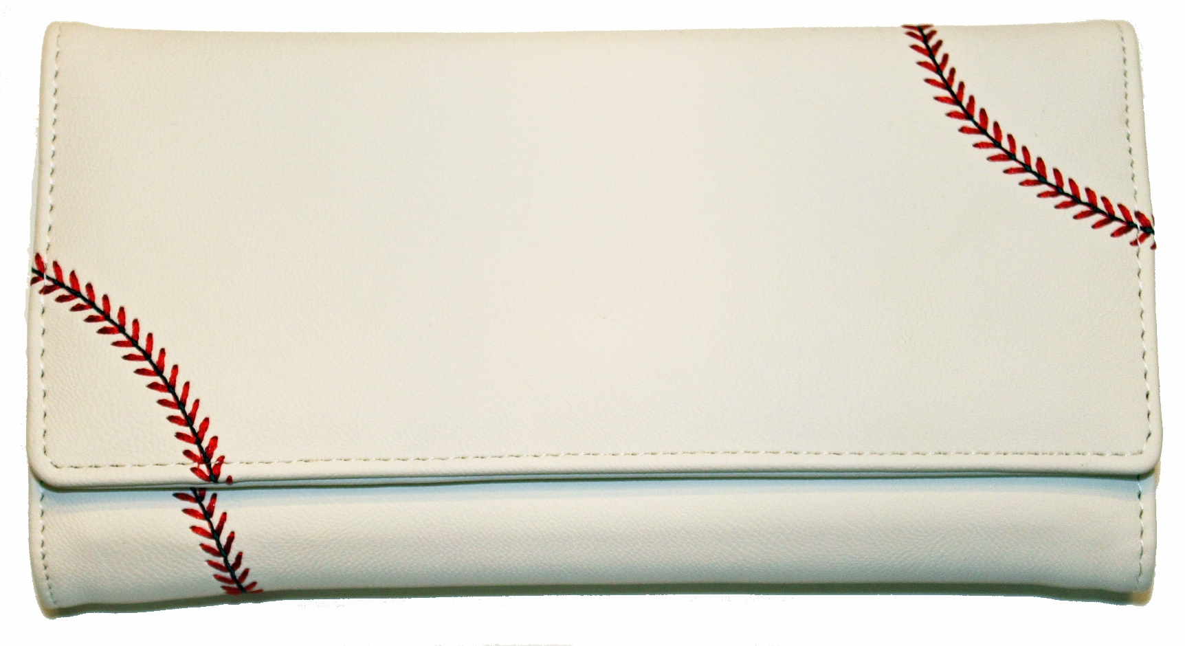 Women's White Baseball Wallet