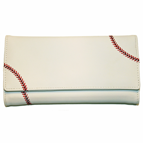 Women's White Baseball Wallet<br>LESS THAN 4 LEFT!