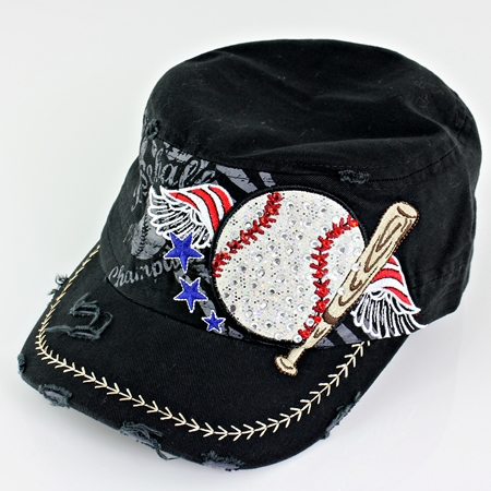 Women's Black Vintage Baseball Hat