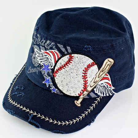 Women's Navy Blue Vintage Baseball Hat