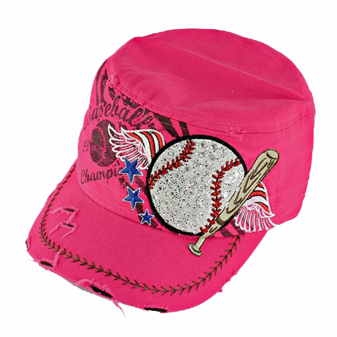 Women's Pink Vintage Baseball Hat