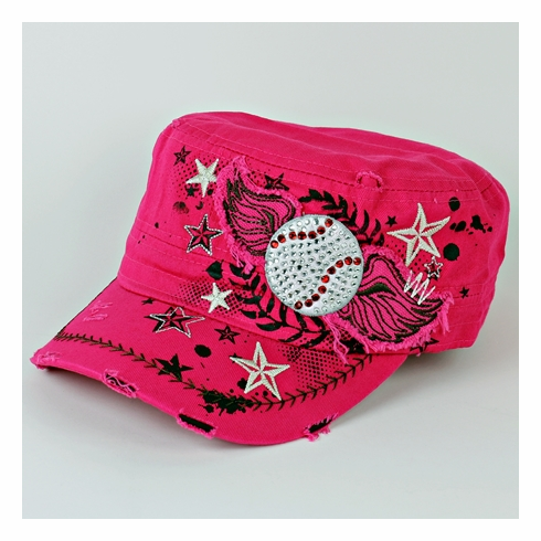 Women's Pink Vintage Wings Baseball Hat<br>LESS THAN 2 LEFT!