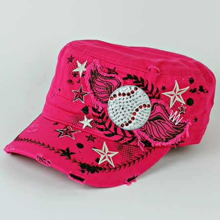 Women's Pink Vintage Wings Baseball Hat