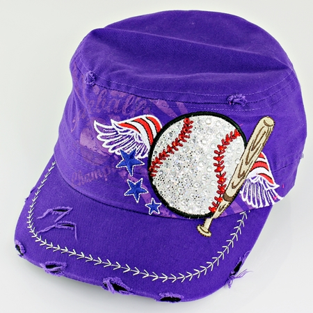 Women's Purple Vintage Baseball Hat