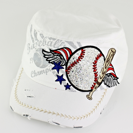 Women's White Vintage Baseball Hat