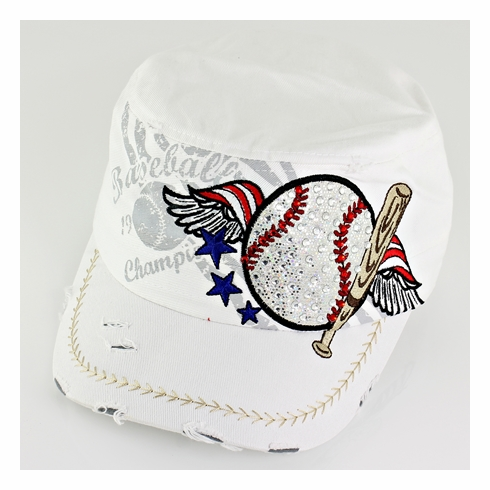 Women's White Vintage Baseball Hat<br>LESS THAN 5 LEFT!