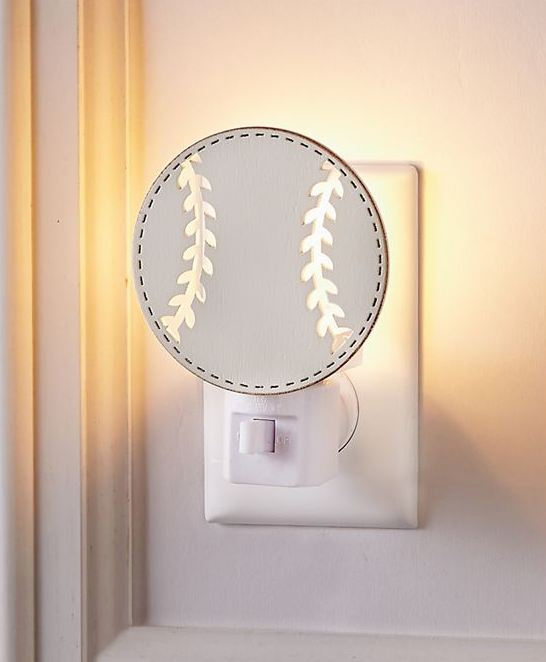 Wood Baseball Night Light