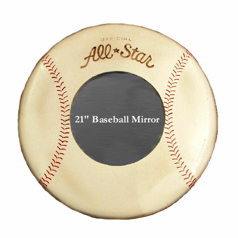 Wooden All-Star Baseball Mirror