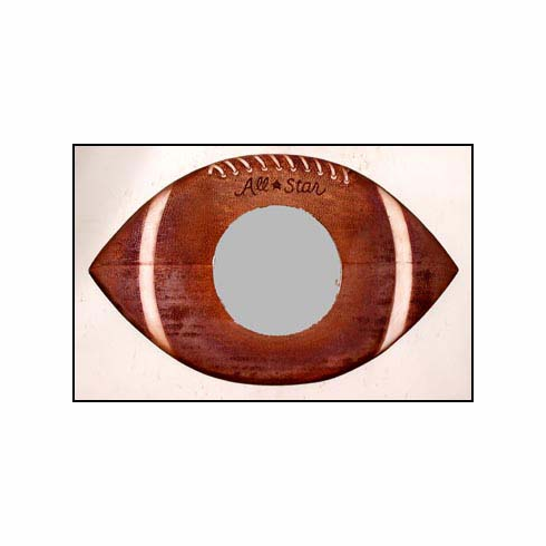 Wooden All-Star Football Mirror