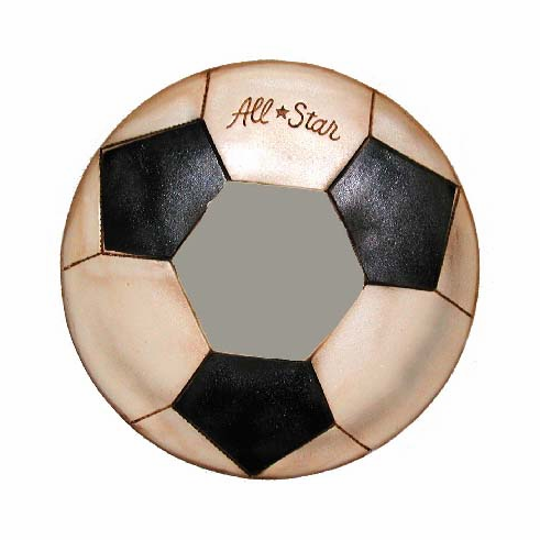 Wooden All-Star Soccer Mirror