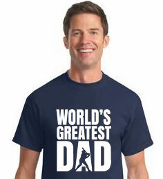 World's Greatest Dad Baseball T-Shirt<br>Choose Your Colors<br>Youth Med to Adult 4X