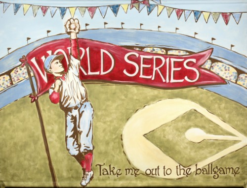"World Series 36"" x 46"" Baseball Mural"