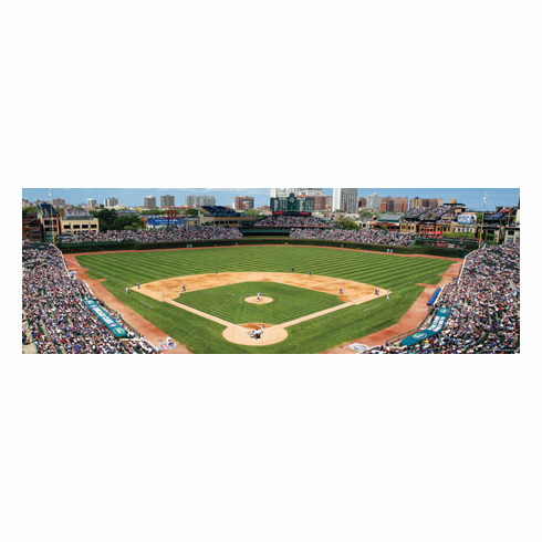 Wrigley Field Chicago Cubs 1000pc Panoramic Puzzle