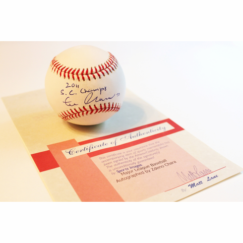 Zdeno Chara Autographed Baseball with Hologram #11688