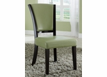 1036 Upholstered Side Chair in Green - Set of 2 - 103682GRN