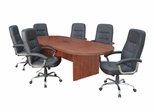 """120"""" Legacy Conference Table with 6 Carrera 1040 Swivel Chairs - ROF-LCTRT120471040BK"""