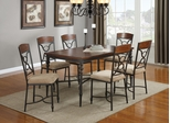120850 7PC Table & Chair Set with Metal Base - 120851