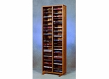 128 Capacity Solid Oak Tower for DVD's  - 210-4DVD