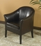 1404 Club Chair in Brown Leather - Armen Living - LCMC001CLBC