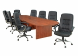 """144"""" Legacy Conference Table with 8 Carrera 1040 Swivel Chairs - ROF-LCTRT144521040BK"""