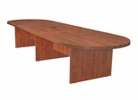 """144"""" Modular Race Track Conference Table with Data/ Power Port - ROF-LCTRT14452"""
