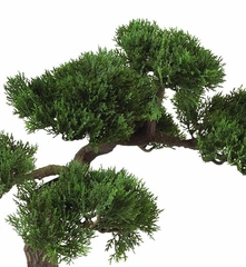 16 Cedar Bonsai Silk Plant In Green Nearly Natural 4106 House Plants And Silk Plants