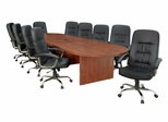"""168"""" Legacy Conference Tabley with 10 Carrera 1040 Swivel Chairs - ROF-LCTRT168521040BK"""