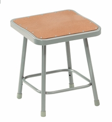 """18"""" Lab Stool with Hardboard Seat - National Public Seating - 6318"""