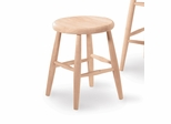 "18"" Scooped Seat Stool - 1S-818"