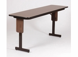 "18"" x 60"" High-Pressure Panel Leg Folding Seminar Table - Correll Furniture - SP1860PX"