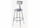 "19""-27"" Adjustable Lab Stool with Padded Seat and Backrest - National Public Seating - 6418HB"