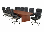 """192"""" Legacy Conference Table with 12 Carrera 1040 Swivel Chairs - ROF-LCTRT192521040BK"""
