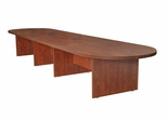 """192"""" Modular Race Track Conference Table with Data/ Power Port - ROF-LCTRT19252"""