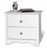 2 Drawer Night Stand in White - Monterey Collection - Prepac Furniture - WDC-2422